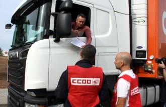 CCOO denuncia l'«esclavatge modern» que pateixen molts treballadors del transport de carretera