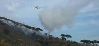 Estabilitzat l'incendi de Collserola després de cremar més de cinc hectàrees
