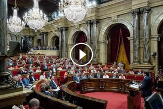 Vés a: EN DIRECTE Segona sessió del debat de la qüestió de confiança a Puigdemont