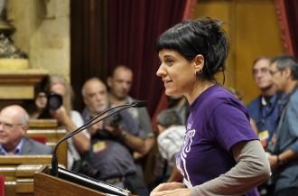 Vés a: Anna Gabriel avisa que la CUP no avalarà «uns pressupostos abans de veure'ls»