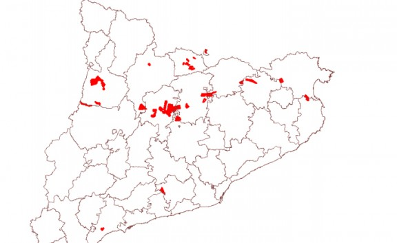 MAPA Totes les zones del Solsonès on s'actuarà contra la processionària