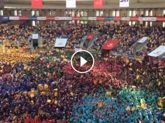 Vés a: VÍDEO El concurs de castells de Tarragona vibra amb «Els Segadors»