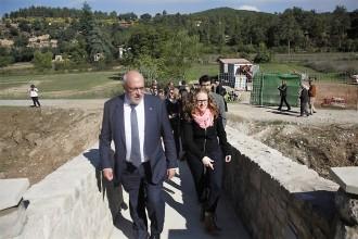 El conseller d'Empresa i Coneixement, Jordi Baiget, ha inaugurat la restauració del pont d'Ogern