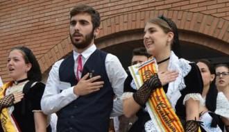 Vés a: Dària Ferrer i Adrià Malagón, proclamats pubilla i hereu de Catalunya 2016