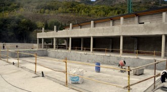 Les obres de la piscina municipal de Sort encaren la recta final