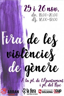 L'Esquerra Independentista del Solsonès organitza una fira per denunciar la violència de gènere