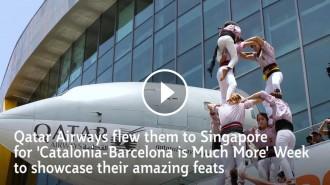 Vés a: Els Minyons de Terrassa, protagonistes d'un vídeo de Qatar Airways