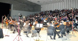 Un concert de pel·lícula a la sala polivalent