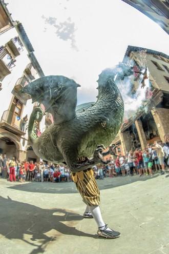 Victor Pisa s'endú el 3r premi per una imatge del Drac de Solsona