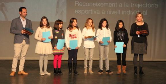 Equips de l'Escola Setelsis reben el reconeixement a la Nit de l'Esport del Solsonès