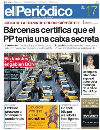 Vés a: «El guàrdia urbà que creava monstres», a la portada d'«El Periódico»