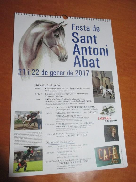 Ja és a la venda el calendari de Sant Antoni Abat