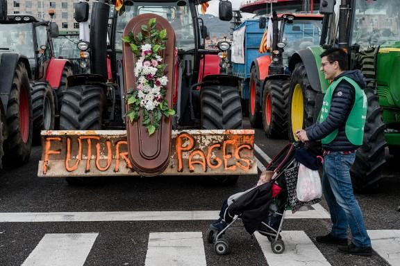 Final de la Marxa Pagesa a Barcelona