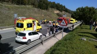Vés a: Tres persones ferides en un accident múltiple a la C-35 al Vallès Oriental