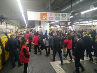 Vés a: Els transports de la plaça Espanya registren les primeres cues pel Mobile World Congress