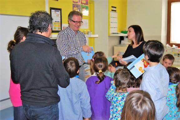 Toni Fernández visita l'Escola de Lladurs