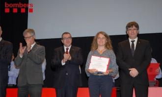 El Centre Tecnològic Forestal de Catalunya rep una menció honorífica per la seva col·laboració amb els Bombers
