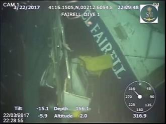 Vés a: Un robot capta les primeres imatges del pesquer enfonsat a Barcelona