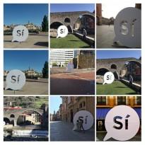 Apareixen diversos «sí» gegants en municipis d'arreu de Catalunya