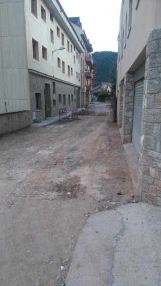 Sant Llorenç de Morunys realitza la pavimentació del Passatge Busa