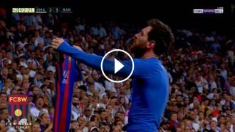 Vés a: VÍDEO Així s'ha viscut a la grada del Madrid la celebració del gol decisiu de Messi