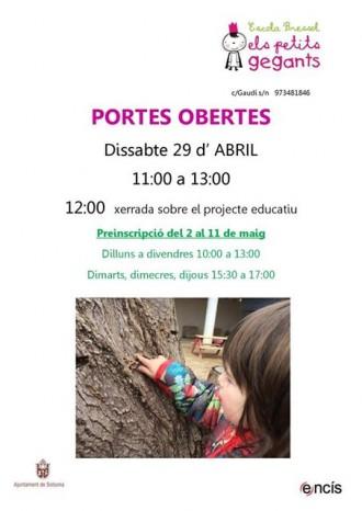 Jornada de Portes Obertes a l'escola bressol Els Petits Gegants