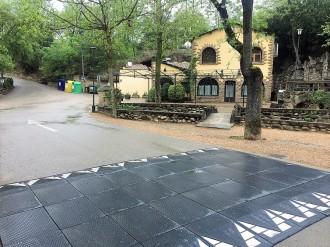 Solsona implanta bandes reductores de velocitat al parc de la Mare de la Font