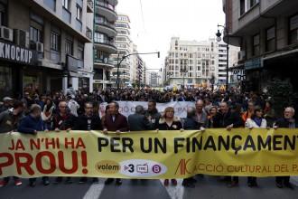 Vés a: Milers de valencians es manifesten en un clam unitari per un millor finançament