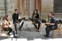 El Quartet de Saxos porta les seves melodies a l'Hora del Vermut