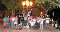 Els merengues solsonins celebren la Lliga del Madrid a Canaletes
