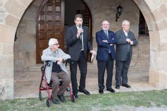 En la inauguració de la Biblioteca Municipal Bisbe Deig