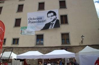 La pancarta del President Mas a la Fira generà oposició