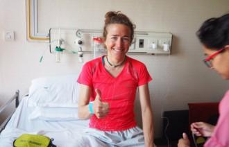 Vés a: Núria Picas, recuperant-se en un hospital del Nepal després d'intentar pujar al Makalu