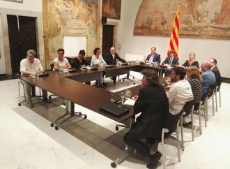 Vés a: Acaba la cimera pel referèndum celebrada a Palau amb absència dels «comuns»