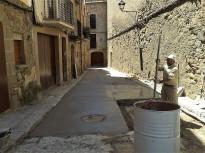 Solsona arranja un dels vials del nucli antic en més mal estat, la travessia de Sant Isidre