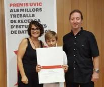 Marc Pujol Gualdo, premiat a Vic pel seu treball de recerca de batxillerat