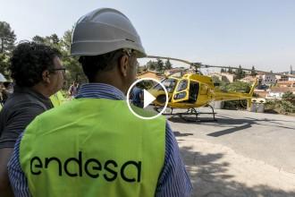 Vés a: Drons i helicòpters amb làser, aliats d'Endesa contra el foc forestal