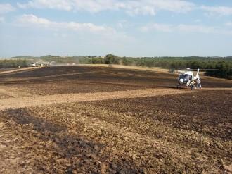 L'incendi agrícola d'Olius (Solsonès) ha afectat unes 5 Ha