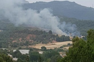 Vés a: Els Bombers controlen un incendi en una zona de matolls a Sant Llorenç Savall