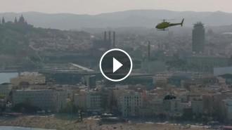 Vés a: VÍDEO El nou Seat Arona sobrevola Barcelona amb helicòpter