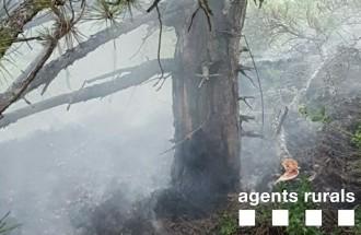 Un llamp provoca un petit incendi a Conca de Dalt