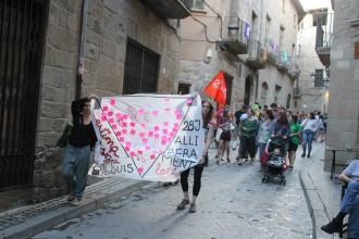 Una cinquantena de persones s'han reunit a Solsona contra l'homofòbia