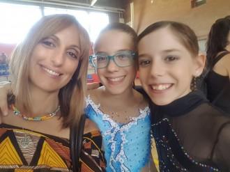 Núria i Ares Navarro, del Solsona Patí Club, al Campionat Territorial amb molt bons resultats