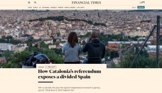 Vés a: El referèndum i l'«Espanya dividida», en un extens reportatge al «Financial Times»
