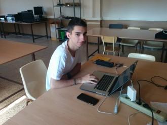 Marc Bajona, alumne de l'Escola Arrels, a la NetRiders Competition