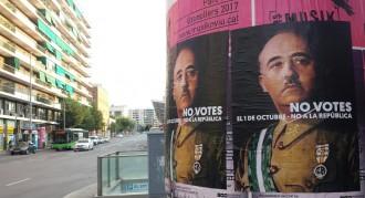 Els carrers de Catalunya es desperten amb uns enigmàtics cartells de Franco contra l'1-O