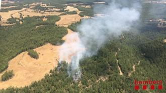 En fase de control un incendi forestal a Castellar de la Ribera
