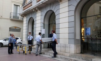 Vés a: La comitiva judicial arriba al museu per exhumar el cos de Salvador Dalí