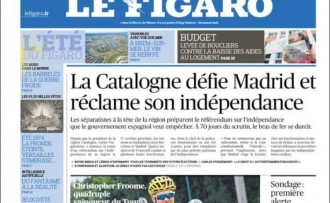 Vés a: El referèndum i la independència roben protagonisme al Tour a la portada de «Le Figaro»