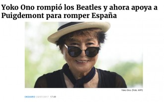 El titular més lamentable d'un diari espanyol sobre els suports internacionals al referèndum